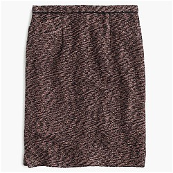Collection rose-gold tweed mini skirt