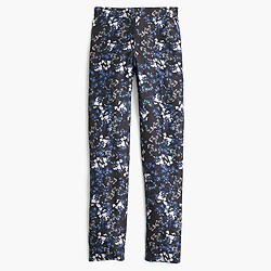 Collection silk trouser in nightfall freesia