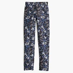 Collection silk trouser in nightfall freesia