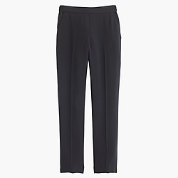 Tall matte crepe trouser