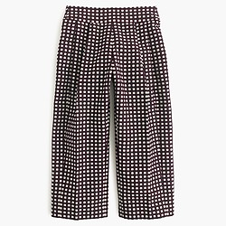 Collection cropped wide-leg trouser in check jacquard