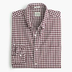 Secret Wash shirt in burgundy gingham