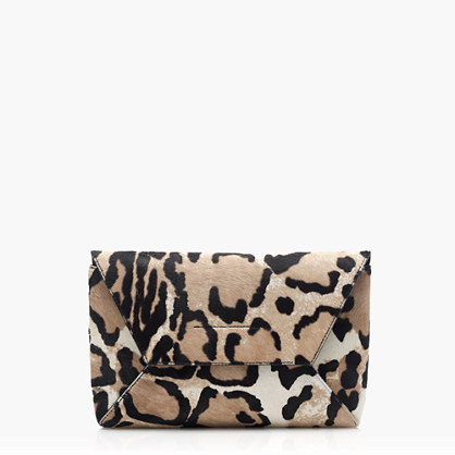 Collection calf hair envelope clutch