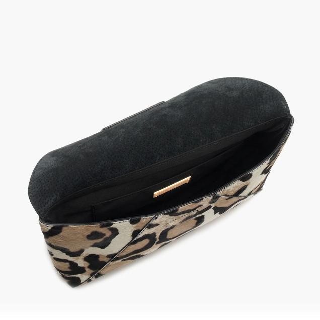 Collection calf hair envelope clutch