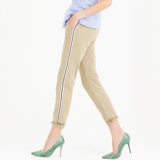 Petite Sunday slim chino with metallic tux stripe