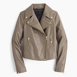 Collection leather motorcycle jacket