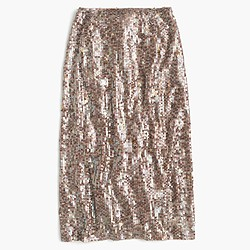 Collection starry sequin pencil skirt