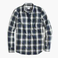 Thomas Mason® flannel shirt in uniform plaid