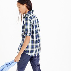 Thomas Mason® flannel shirt in uniform plaid