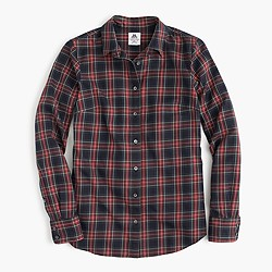 Thomas Mason® flannel shirt in Stewart plaid