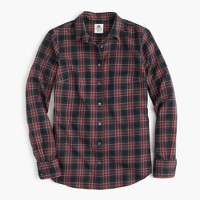 Thomas Mason® flannel shirt in Stewart plaid