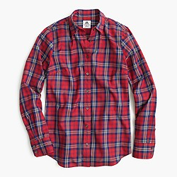 Thomas Mason® flannel shirt in festive plaid