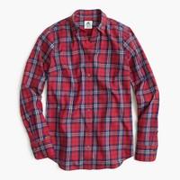 Thomas Mason® flannel shirt in festive plaid