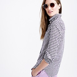 Petite boy shirt in mini gingham