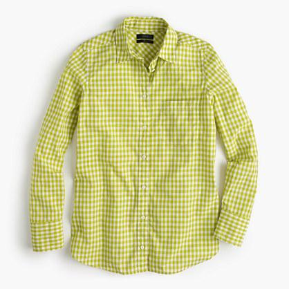 Boy shirt in mini gingham