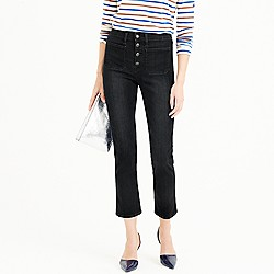 Point Sur vintage patch-pocket cropped jean in black wash