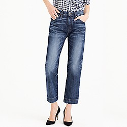 Point Sur Japanese denim wide-leg cropped jean