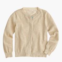 Girls' metallic cardigan sweater