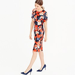 Collection graphic peony short-sleeve dress