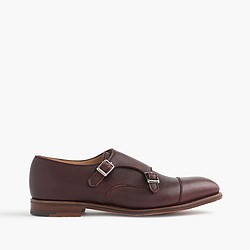 Alfred Sargent® pebbled Italian leather monk strap shoes