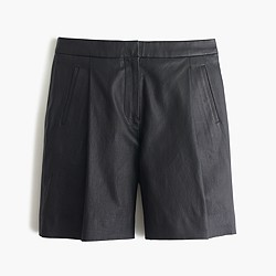 Collection leather bermuda short