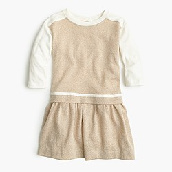 Girls' two-in-one sparkle jersey dress