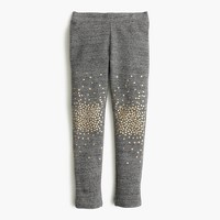 Girls' cozy everyday leggings in sparkle splatter