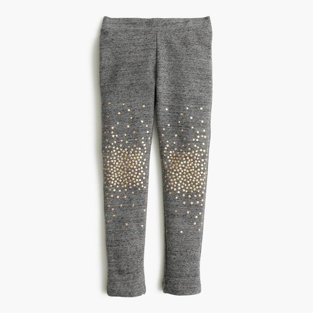 Girls' cozy everyday leggings in sparkle splatter