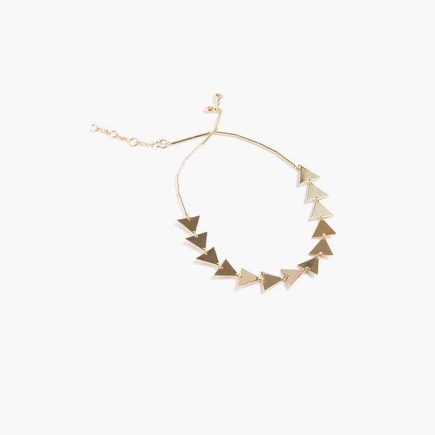 Geometrical cutout necklace