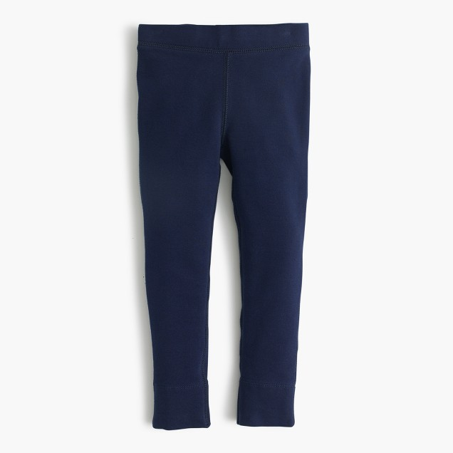 Girls' cozy everyday leggings with ankle zip