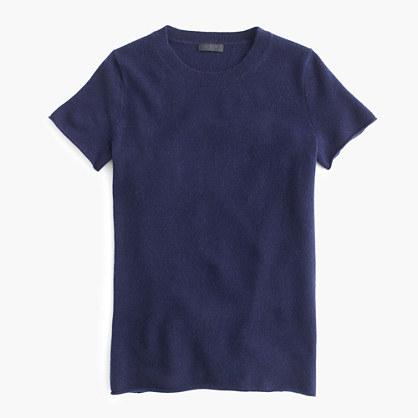 Italian cashmere short-sleeve T-shirt