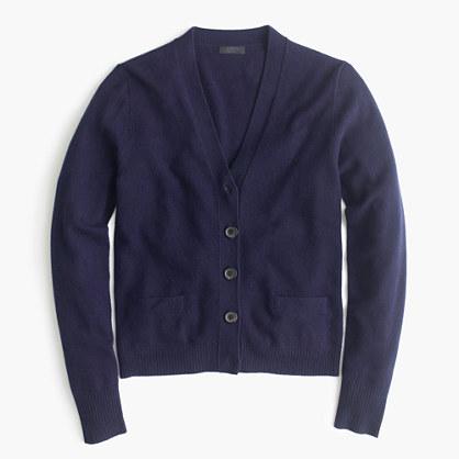 Italian cashmere short cardigan sweater