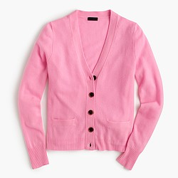 Italian cashmere short cardigan sweater