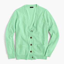 Italian cashmere boyfriend cardigan sweater