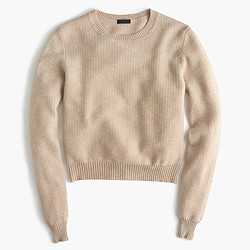 Cropped cashmere pullover sweater