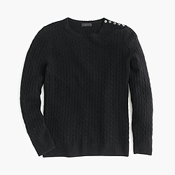 Collection cashmere mini-cable sweater