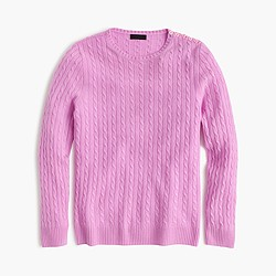 Italian cashmere mini-cable sweater