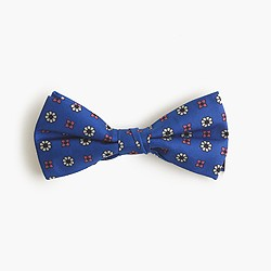 Boys' silk bow tie in blooming foulard