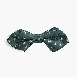 Boys' silk bow tie in hunter paisley