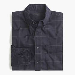 Brushed twill shirt in black windowpane