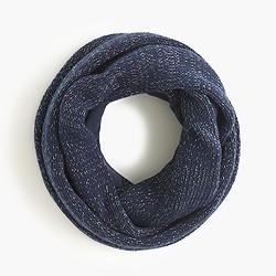 Girls' metallic woven infinity scarf