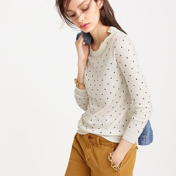 Polka-dot Tippi sweater with shoulder buttons