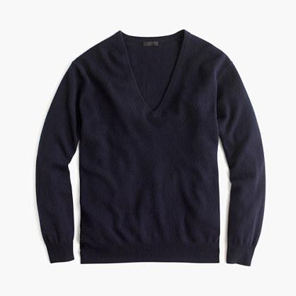 Italian cashmere boyfriend V-neck sweater