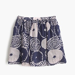 Girls' pull-on skirt in artsy floral