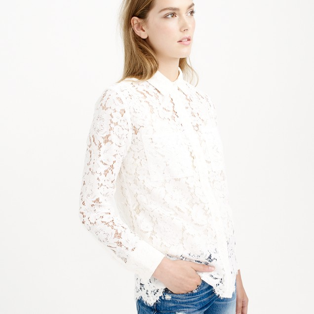 Collection corded lace shirt