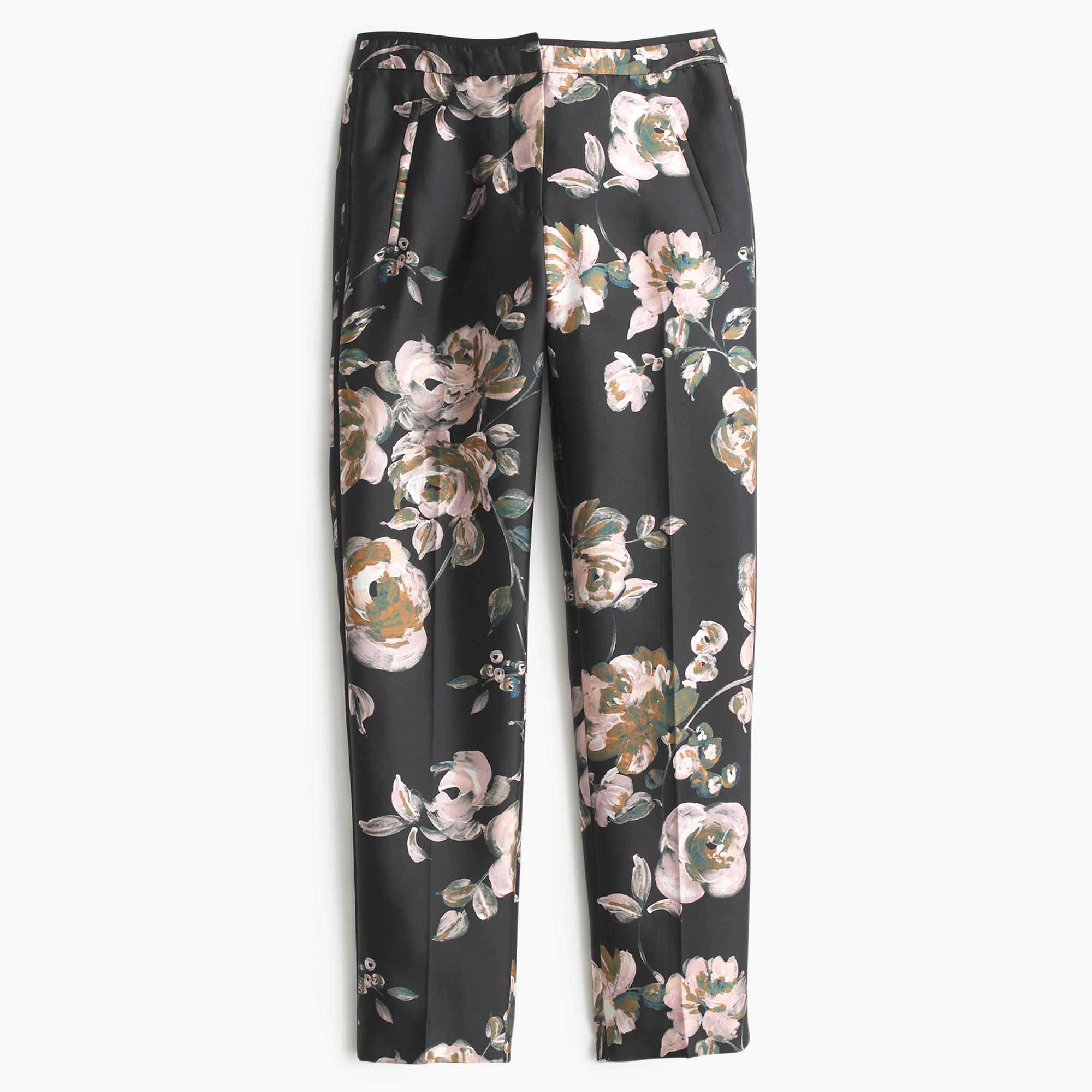 Collection cropped pant in painterly floral  | J.Crew