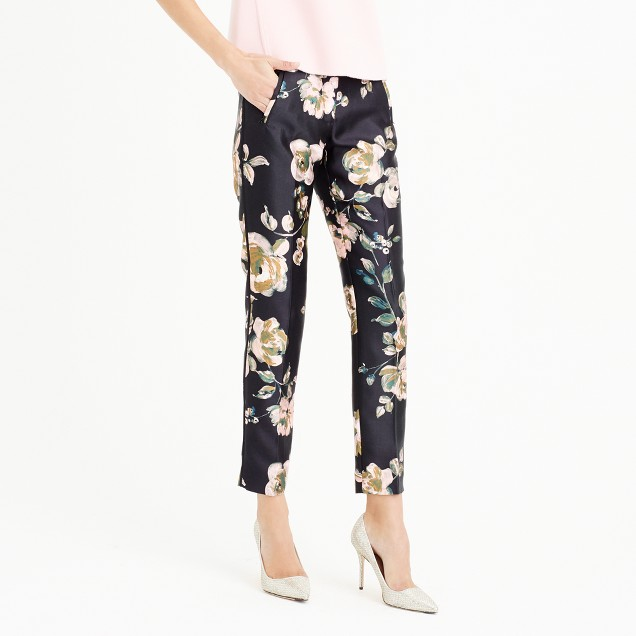 Collection cropped pant in painterly floral