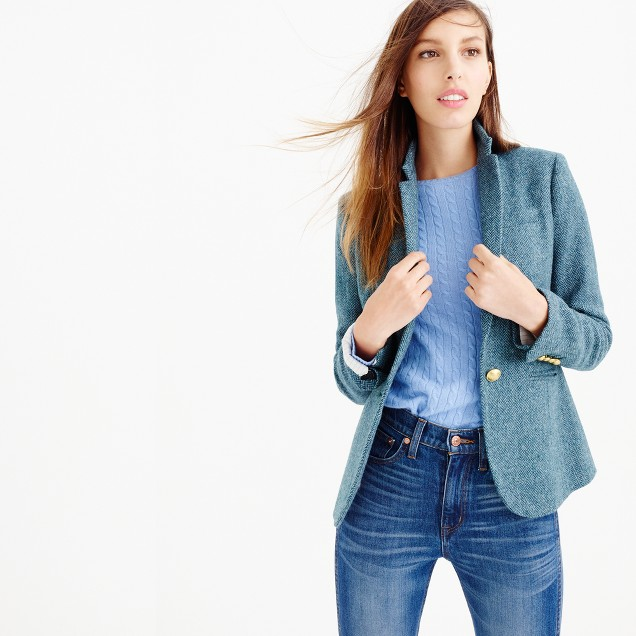 Campbell blazer in blue herringbone