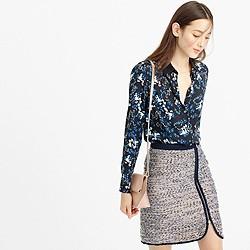 Collection silk blouse in nightfall freesia