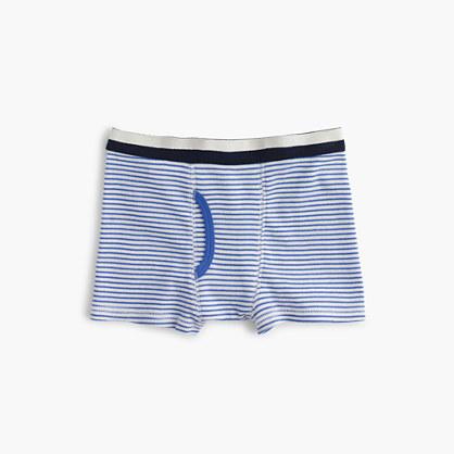 Boys' cotton boxer briefs in nautical stripe